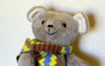 Winter handmade teddy bear