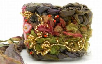 Fabric Crochet Cuff