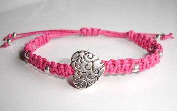 Pink Macrame Handmade Bracelet