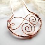 Copper Swirls Metal Hair Fork by mairydozy