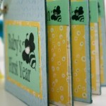First Year Baby Bee Keepsake Predecorated Chipboard Mini Album MADE TO ORDER by MyGrandpasPen