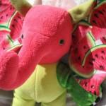 Home Decor ELEPHANT WATERMELON de Luxe Vitality Health Wellness LUXURY soft stuffed plush Animal handmade ooak tallhappycolors by TALLhappyCOLORS