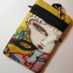 Masquerade Ball Art Print Cell Phone Bag by Brenda Miller from A Touch Of Glass Jewelry