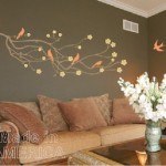 Wall Decal Cherry Blossom Branch with 5 Birds by Chuck E Byrd Wall Art