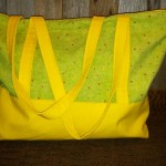 XL Green and Yellow Tote by customkelly