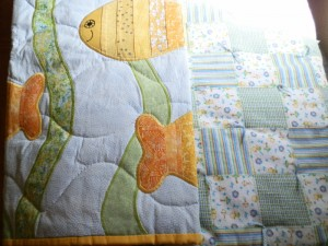 The quilt is on the left - the comforter is on the right