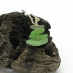 Green Sea Glass Stack S003 by MakinTheBestOfIt