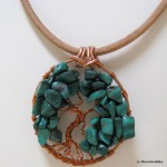 Tree of Life Malachite Delight Necklace by MoonstoneMary