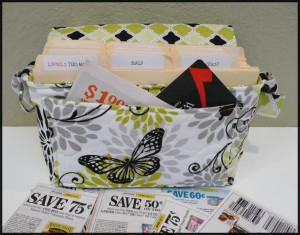 handmade quilted coupon organizer