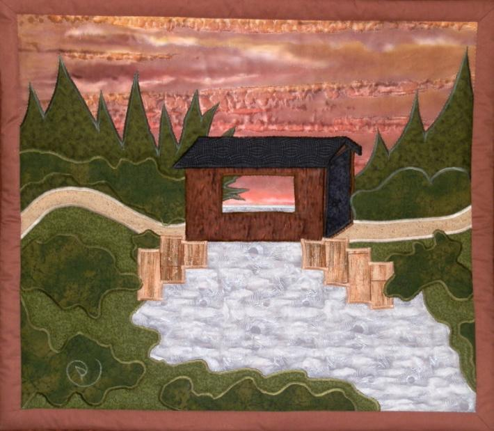 Paul's Covered Bridge quilted wall-hanging