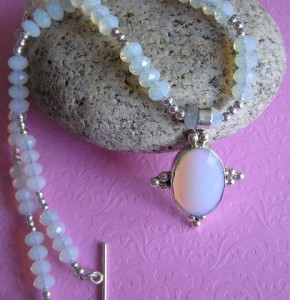 necklace, jewelry, moonstone, handmade