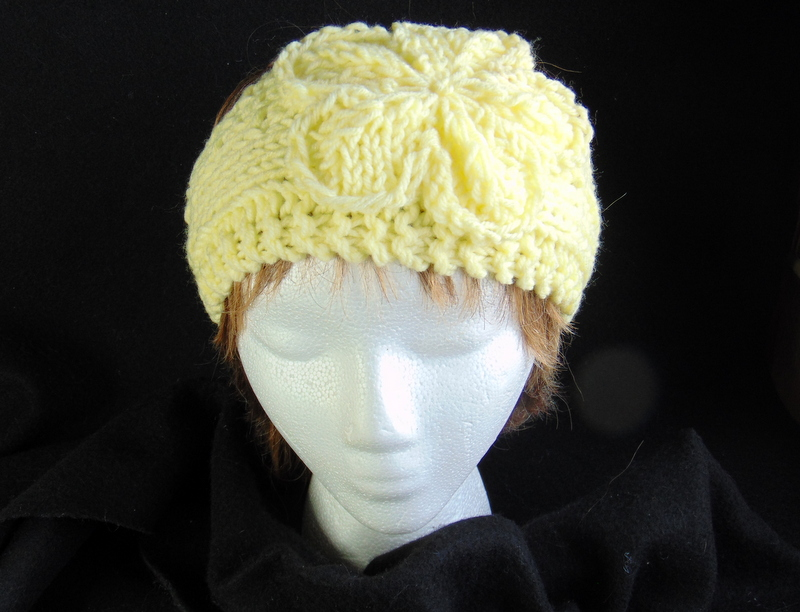 Hand-Knit Yellow Headband