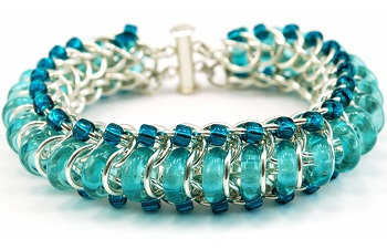 blue chainmaille