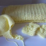 Baby Shower Set Blanket Booties & Hat