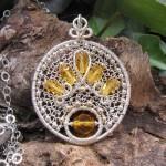 Zenith Wirewrapped Necklace by GravelRdJewelry
