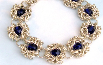 Cobalt-Romanov-Chainmaille-Bracelet