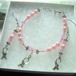 Breast Cancer Awareness Bracelet & Earring Set - Joan's Honor