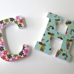 Wooden with Patterns Letters Wall Hangings