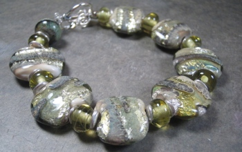 Celery-River-Rock-Handcrafted-Glass-Bead-Bracelet