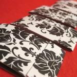 Damask Matchbook Notepad Set