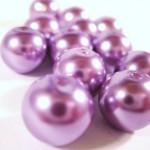Purple Glass Pearls
