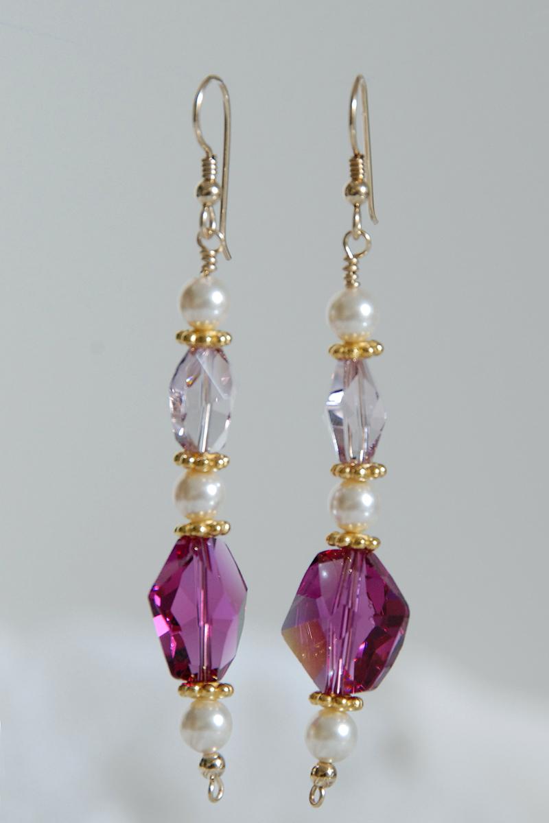 Swarovski Crystal & Pearl Earrings | Handmade Artists Blog