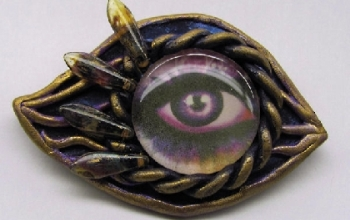 Purple Eye Pin