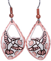Handmade Earrings, Unique Handcrafted Jewelry, Animal Jewelry, Hummingbird Earrings