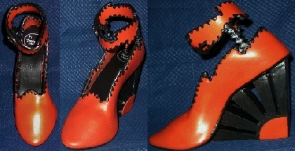 Polymer clay shoe sculpture