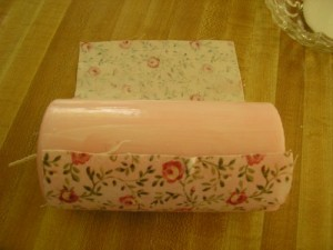 Wrapped Fabirc Candle