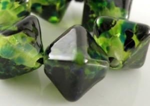 Six Handmade Lampwork Beads