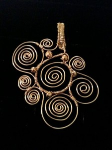 Handmade Spiral Pendant
