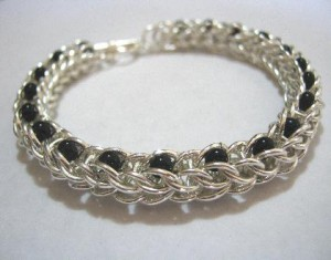 handmade persian chainmaille bracelet