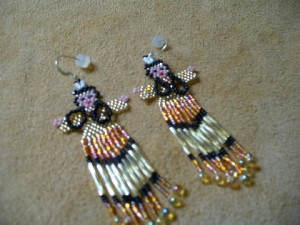 Beaded Indian Earrings