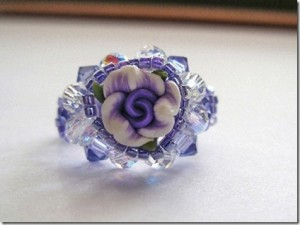 Handmade crystal Ring