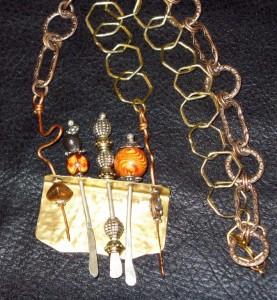 mixed metals necklace