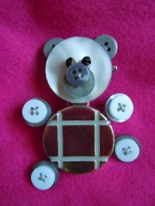 Button Teddy Bear
