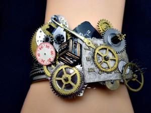 Time is Askew Steampunk Bracelet