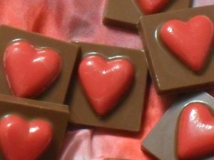 Handmade Chocolate Hearts