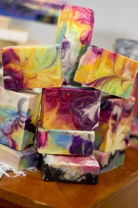 Handmade Swirly Rainbow Soap