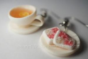tea and cake earrings