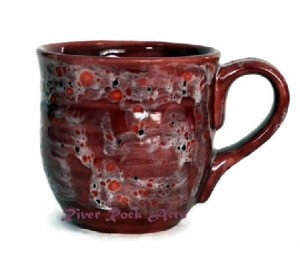Handmade Mug Red Ceramic
