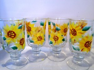 sunflower irish coffee mugs
