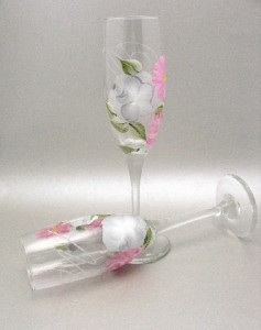 Hand Painted Toasting Glasses