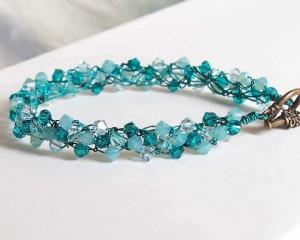 metal crochet bracelet