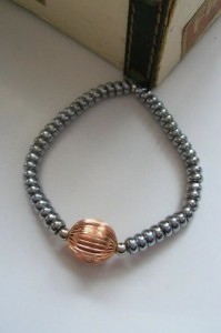 EGBG Mens Silver and Copper Bracelet by ElecticGemsbyGasp