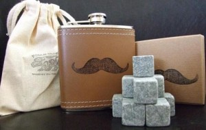 Whiskey on the Go Rocks and Flask Kit by PolarStones