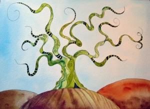 Hand Painted Tree