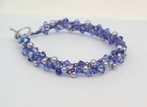 handmade lavendar bracelet