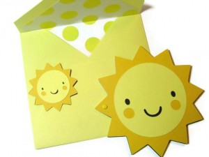 handamade sunshine card